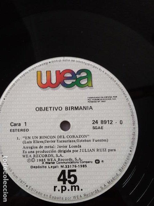 Discos de vinilo: OBJETIVO BIRMANIA EN UN RINCON DEL CORAZON - Foto 2 - 186223008