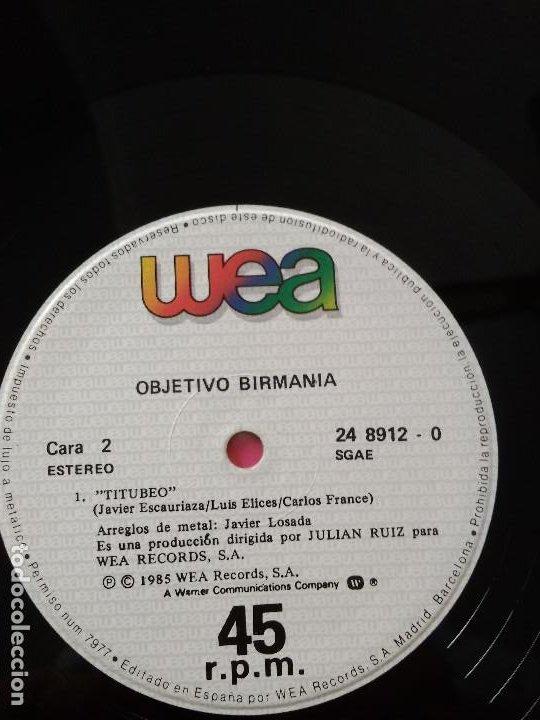 Discos de vinilo: OBJETIVO BIRMANIA EN UN RINCON DEL CORAZON - Foto 3 - 186223008