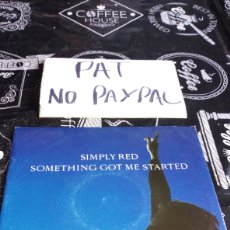 Disques de vinyle: SIMPLE RED SOMETING GOT ME STARTED. Lote 186223012