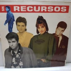 Discos de vinilo: LP-SIN RECURSOS- EN FUNDA ORIGINAL 1989. Lote 186223186