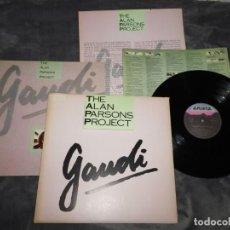 Discos de vinilo: THE ALAN PARSONS PROJECT GAUDI LP VINILO PROMO 1986 CON ENCARTES ESPAÑA MUY RARO SET BOX. Lote 186223823