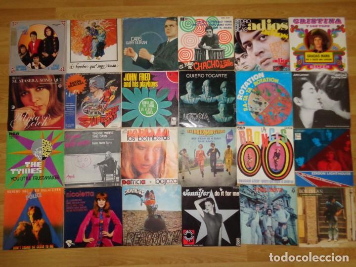 LOTE CON 24 SINGLES DE FINALES DE LOS '60 HASTA 1980 (Música - Discos de Vinilo - Maxi Singles - Otros estilos)