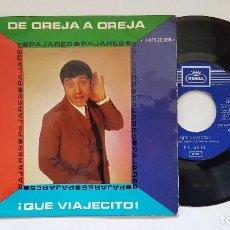 Discos de vinilo: PAJARES. DE OREJA A OREJA. AÑO 1.969. EDITADO POR EMI. BASTANTE RARO. Lote 186225928
