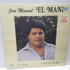 Discos de vinilo: LP-JOSE MANUEL EL MANI-COSAS DE SEVILLA EN FUNDA ORIGINAL 1988. Lote 186225971