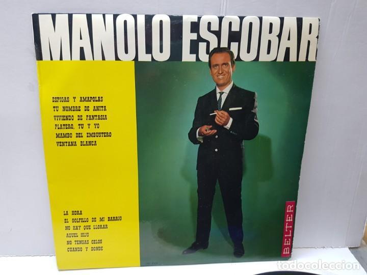 LP-MANOLO ESCOBAR- EN FUNDA ORIGINAL 1966 (Música - Discos - LP Vinilo - Solistas Españoles de los 70 a la actualidad)