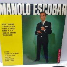 Discos de vinilo: LP-MANOLO ESCOBAR- EN FUNDA ORIGINAL 1966. Lote 186226811
