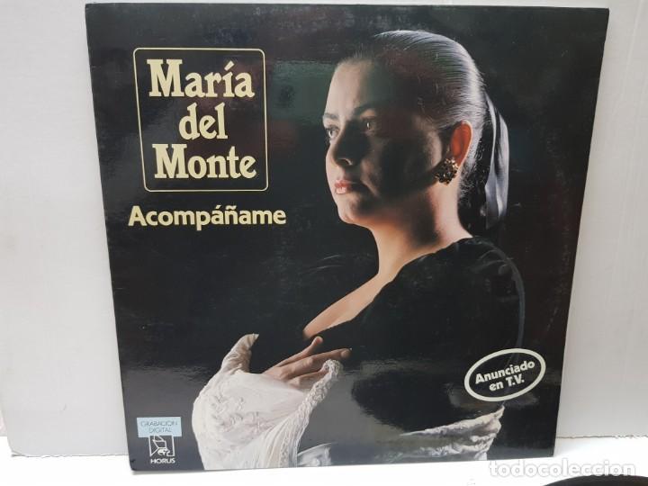 LP-MARIA DEL MONTE-ACOMPAÑAME EN FUNDA ORIGINAL 1989 (Música - Discos - LP Vinilo - Solistas Españoles de los 70 a la actualidad)