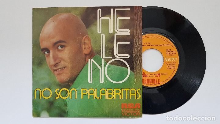 HELENO - NO SON PALABRITAS. AÑO 1.973. EDITADO POR RCA. DISCO PROMOCIONAL. (Música - Discos - Singles Vinilo - Grupos y Solistas de latinoamérica)
