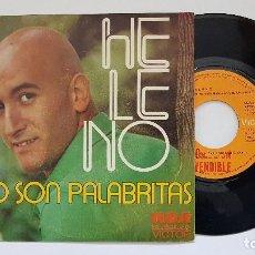 Discos de vinilo: HELENO - NO SON PALABRITAS. AÑO 1.973. EDITADO POR RCA. DISCO PROMOCIONAL.. Lote 186227428