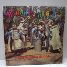 Discos de vinilo: LP-MURGAS Y CHIRIGOTAS-LOS BEDUINOS DE CADIZ EN FUNDA ORIGINAL 1975. Lote 186227983
