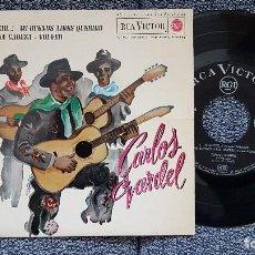 Discos de vinilo: CARLOS GARDEL. EP. SILENCIO + 3 - AÑO 1.962 - EDITADO POR RCA. Lote 186228087