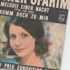 Discos de vinilo: 45 GIRI ESTER OFARIM MELODIE EINER NACHT /KOMM DOCH ZU MIR PHILIPS GRAND PRIX EUROVISION 1963. Lote 186228163