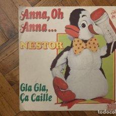Discos de vinilo: NESTOR ET DAVID MICHEL – ANNA, OH ANNA... SELLO: DISQUES IBACH – 60 152 FORMATO: VINYL, 7 . Lote 186232740