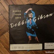 Discos de vinilo: DEBBIE GIBSON – SHAKE YOUR LOVE SELLO: ATLANTIC – 789 187-7 FORMATO: VINYL, 7 , SINGLE, 45 RPM . Lote 186237583