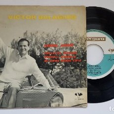 Discos de vinilo: VICTOR BALAGUER - EP. ADDIO, ADDIO + 3 - AÑO 1.962 - EDITADO POR VERGARA. Lote 186237973
