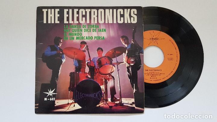 THE ELECTRONICKS. EP. LA DANZA DE ZORBA + 3. AÑO. 1.965. EDITADO POR MARFER. DISCO RARO. (Música - Discos de Vinilo - EPs - Grupos Españoles 50 y 60)
