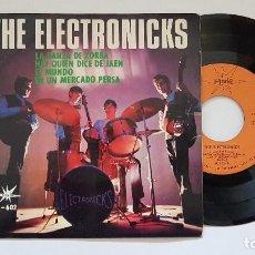 Discos de vinilo: THE ELECTRONICKS. EP. LA DANZA DE ZORBA + 3. AÑO. 1.965. EDITADO POR MARFER. DISCO RARO.. Lote 186239982