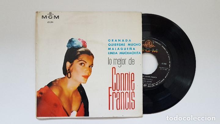 CONNIE FRANCIS - EP .GRANADA + 3 CANCIONES. AÑO 1.964. EDITADO POR M.G.M. (Música - Discos de Vinilo - EPs - Pop - Rock Extranjero de los 50 y 60)