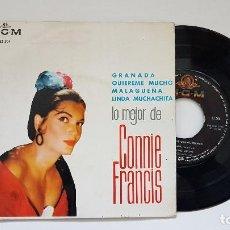 Discos de vinilo: CONNIE FRANCIS - EP .GRANADA + 3 CANCIONES. AÑO 1.964. EDITADO POR M.G.M.. Lote 186241166