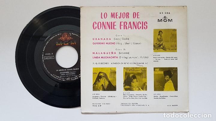 Discos de vinilo: Connie Francis - Ep .Granada + 3 canciones. año 1.964. editado por M.G.M. - Foto 2 - 186241166