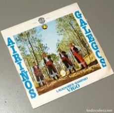 Discos de vinilo: NUMULITE LP100 AIRIÑOS GALEGOS LAVADORES SAMPAIO VIGO GRUPO DE GAITAS GAITA GALICIA . Lote 186241263