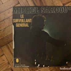 Discos de vinilo: MICHEL SARDOU – LA CHANSON D'ADIEU SELLO: TREMA – 6061.470, TREMA – 6.061.470 FORMATO: VINYL, 7 . Lote 186243488