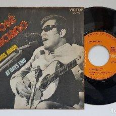 Discos de vinilo: JOSÉ FELICIANO - ADIOS AMOR + AT DAYS END. AÑO. 1.969- EDICIÓN FRANCESA.. Lote 186247376