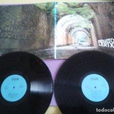 Discos de vinilo: BENITO LERTXUNDI LP ORIGINAL DOBLE.PORTADA TRIPLE.SELLO ELKAR AZ 9-10. AÑO 1977(MULTI FOLDOUT COVER). Lote 186249727