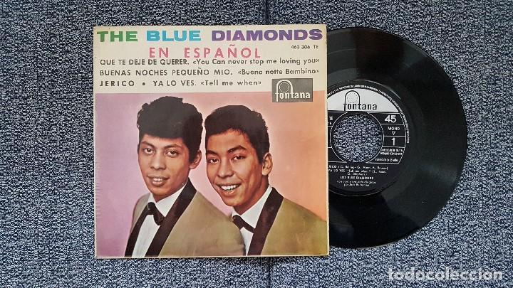 THE BLUE DIAMONDS - EP. QUE TE DEJE DE QUERER + 3 CANCIONES. AÑO. 1.964. EDITADO POR FONTANA (Música - Discos de Vinilo - EPs - Pop - Rock Internacional de los 50 y 60)