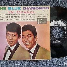 Discos de vinilo: THE BLUE DIAMONDS - EP. QUE TE DEJE DE QUERER + 3 CANCIONES. AÑO. 1.964. EDITADO POR FONTANA. Lote 186250416