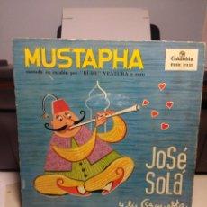 Discos de vinilo: EP JOSE SOLA Y SU ORQUESTA : MUSTAPHA ( CANTADO POR RUDY VENTURA Y CORO ). Lote 186250902