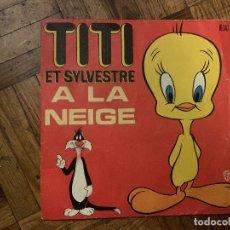 Discos de vinilo: TITI ET SYLVESTRE À LA NEIGE SELLO: WARNER BROS. RECORDS – 16 347 FORMATO: VINYL, 7 , 45 RPM . Lote 186252643