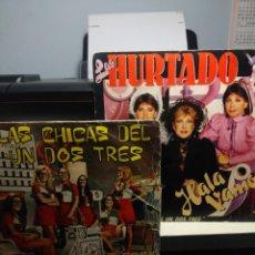 Discos de vinilo: 2 DISCOS SINGLE DEL PROGRAMA UN DOS TRES : LAS HURTADO + LAS CHICAS DEL UN DOS TRES. Lote 222444383
