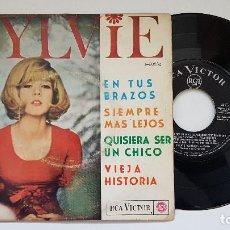 Discos de vinilo: SYLVIE VARTAN. EP - DANS TES BRAS + 3 CANCIONES. AÑO 1.965. EDITADO POR RCA. DIFICIL DE CONSEGUIR. Lote 186253672