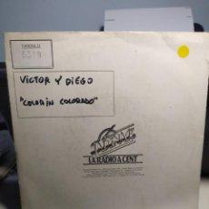 Discos de vinilo: SG DEMO PROMO DEL DUO VICTOR Y DIEGO : COLORIN COLORADO . Lote 186253988
