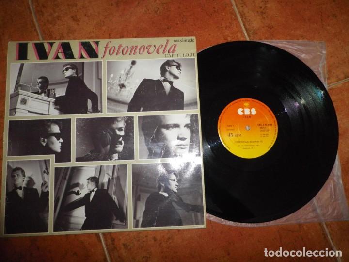 IVAN FOTONOVELA MAXI SINGLE VINILO DEL AÑO 1984 ESPAÑA CONTIENE 2 TEMAS ITALO DISCO RARO (Música - Discos de Vinilo - Maxi Singles - Solistas Españoles de los 70 a la actualidad)