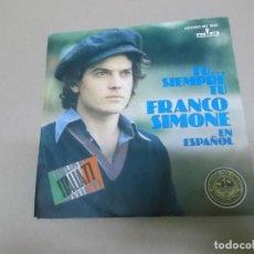 Dischi in vinile: FRANCO SIMONE (SINGLE) TU SIEMPRE TU AÑO – 1977 - PROMOCIONAL. Lote 186258452