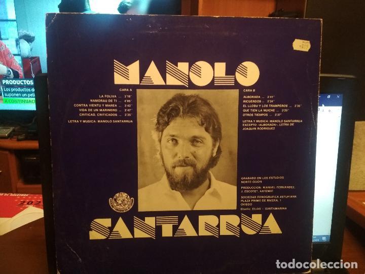 Discos de vinilo: MANOLO SANTARRUA - CONTRA VIENTO Y MAREA LP 1982 ASTURIAS - Foto 2 - 186259805