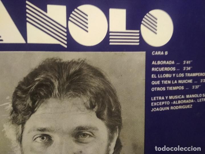 Discos de vinilo: MANOLO SANTARRUA - CONTRA VIENTO Y MAREA LP 1982 ASTURIAS - Foto 3 - 186259805