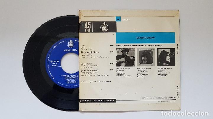 Discos de vinilo: Sandie Shaw. Ep -Huir + 3. año 1.966. editado por Hispavox - Foto 2 - 186260797