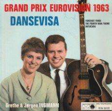 Discos de vinilo: GRETE & JORGEN INGMANN EP DANSEVIVA METRONOME GERMANY GRAND PRIX EUROVISION 1963. Lote 186264158