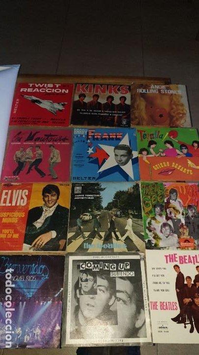 12 SINGLES , 2 THE ATLES, ROLLINGS STONE , PAUL MCCRTNEY , THE BEE GEES , ELVIS , KINKS ETC.... (Música - Discos de Vinilo - EPs - Pop - Rock Extranjero de los 70)