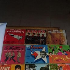 Discos de vinilo: 12 SINGLES , 2 THE ATLES, ROLLINGS STONE , PAUL MCCRTNEY , THE BEE GEES , ELVIS , KINKS ETC..... Lote 186266648