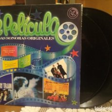 Discos de vinilo: DOBLE LP DE PELICULA BANDAS SONORAS ORIGINALES NACIONALES E INTERNACIONALES 1991 PEPETO. Lote 186271148