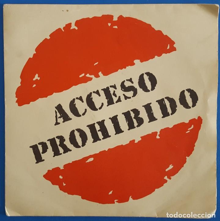 SINGLE / ACCESO PROHIBIDO / A VOLAR - LA HISTORIA / 1991 (Música - Discos - Singles Vinilo - Grupos Españoles de los 90 a la actualidad)