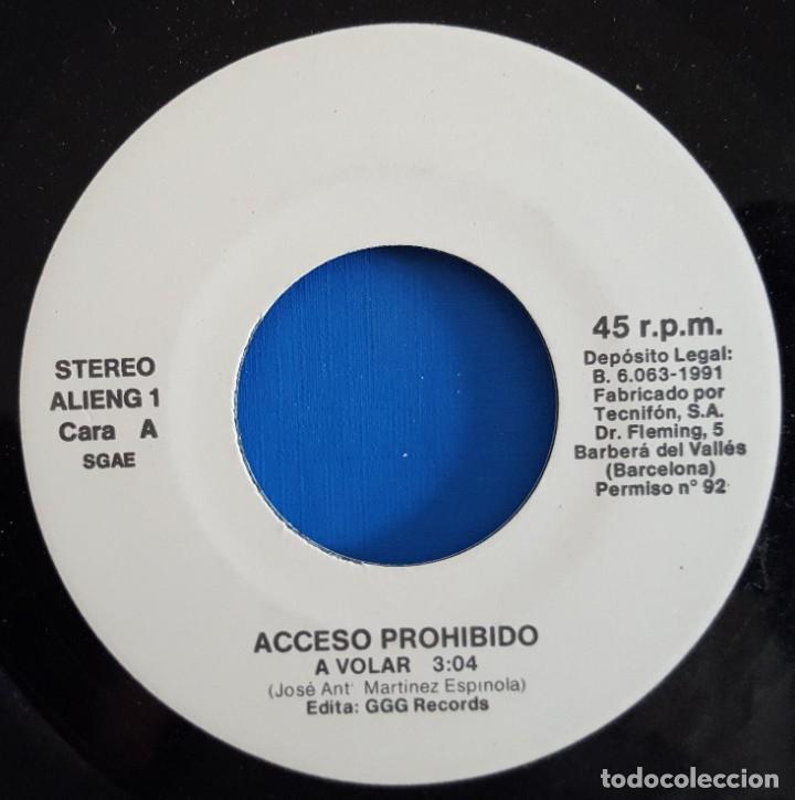 Discos de vinilo: SINGLE / ACCESO PROHIBIDO / A VOLAR - LA HISTORIA / 1991 - Foto 3 - 186274870