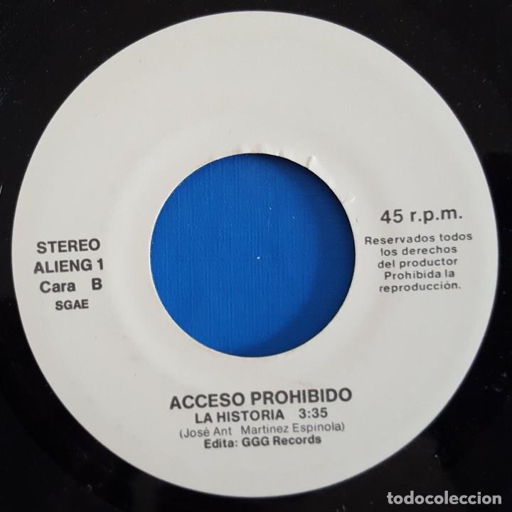 Discos de vinilo: SINGLE / ACCESO PROHIBIDO / A VOLAR - LA HISTORIA / 1991 - Foto 4 - 186274870