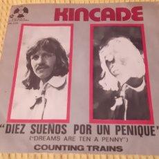 Discos de vinilo: KINCADE. DREAMS ARE TEN A PENNY. COUNTING TRAINS. PENNY FARTHING. 06-033-B.. Lote 186277190