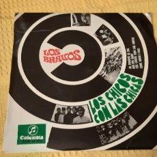 Discos de vinilo: LOS BRAVOS. EP. LOS CHICOS CON LAS CHICAS. COME WHEN I CALL.AL PONERSE EL SOL. BYE BYE,,,SGE 81274. Lote 186279632