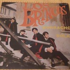 Discos de vinilo: RARO SINGLE!! OPORTUNIDAD. LOS BRINCOS. BORRACHO. SOLA. 00X-738. ZAFIRO. VG++/EX. Lote 186279890